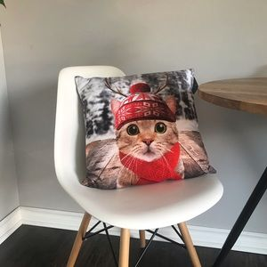 NWT Christmas Cat Throw Pillow